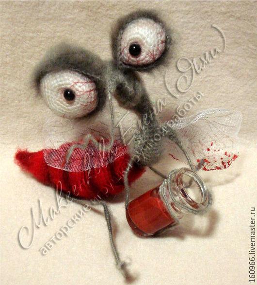 """Вязание ручной работы. Ярмарка Мастеров - ручная работа. Купить МК по вязанию комара """"Кровинушка"""". Handmade. Ярко-красный, амигуруми"""