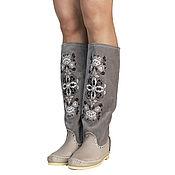 Обувь ручной работы handmade. Livemaster - original item Suede boots spring-summer DESIDERIO (marble), size 37, in the presence of. Handmade.