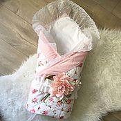 Работы для детей, ручной работы. Ярмарка Мастеров - ручная работа Конверт на выписку. Лоскутное одеяло для новорожденного. Handmade.