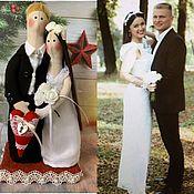 Портретная кукла ручной работы. Ярмарка Мастеров - ручная работа Свадебные куклы-неразлучники по фото. Handmade.