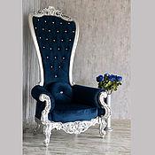 Кресла ручной работы. Ярмарка Мастеров - ручная работа Кресло с высокой спинкой (№051). Handmade.