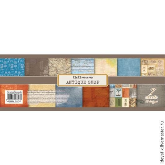 В набор входит 7 листов бумаги ( 6 двусторонних листов и 1 односторонний) с дизайнами коллекции.  Размер: 30,5х30,5 см. Плотность: 190 гр/м Коллекция: Лавка древностей  (Antique shop).