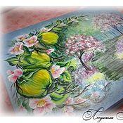 Для дома и интерьера ручной работы. Ярмарка Мастеров - ручная работа Яблони в цвету. Шкатулка большая А4. Handmade.