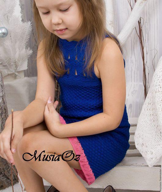 Одежда для девочек, ручной работы. Ярмарка Мастеров - ручная работа. Купить Платье Сапфир. Авторская работа. Handmade. Тёмно-синий
