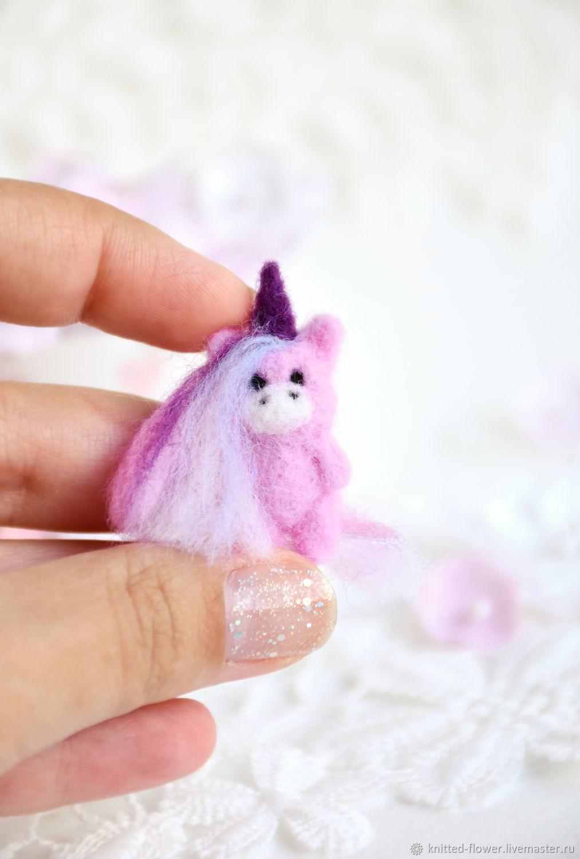 Unicorn felted miniature, Miniature figurines, Sosnovyj Bor,  Фото №1