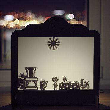 """Куклы и игрушки ручной работы. Ярмарка Мастеров - ручная работа Набор для теневого театра """"Русские сказки"""". Handmade."""