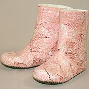 Обувь ручной работы handmade. Livemaster - original item Homemade high boots Pearl. Handmade.