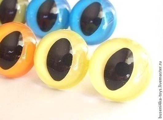 """Куклы и игрушки ручной работы. Ярмарка Мастеров - ручная работа. Купить 9мм Глаза кошачьи (желтые) 2шт. """"3420"""". Handmade."""