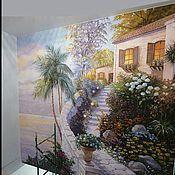 Дизайн и реклама ручной работы. Ярмарка Мастеров - ручная работа Роспись стен Домик в саду. Handmade.