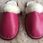 Обувь ручной работы handmade. Livemaster - original item Womens leather Slippers in sheepskin. Handmade.