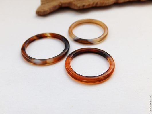 Кольца ручной работы. Ярмарка Мастеров - ручная работа. Купить Тонкое кольцо из агата Солнцеворот. Handmade. Оранжевый, кольцо из камня