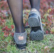 Обувь ручной работы. Ярмарка Мастеров - ручная работа Туфли валяные Туман. Handmade.