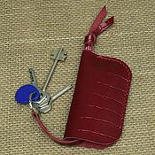 Ключницы ручной работы. Ярмарка Мастеров - ручная работа Ключница кожаная красная ОРИГИНАЛЬНАЯ  KO022. Handmade.