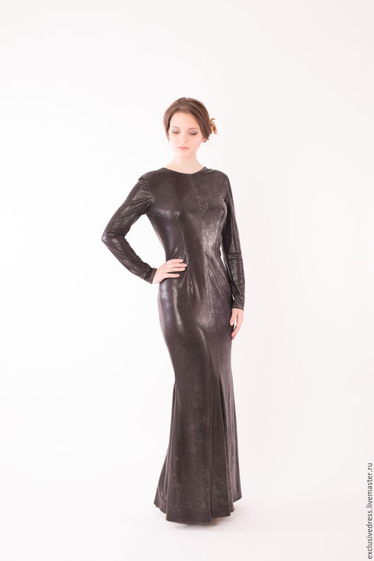 Платья ручной работы. Ярмарка Мастеров - ручная работа. Купить Вечернее платье. Handmade. Черный, открытая спина
