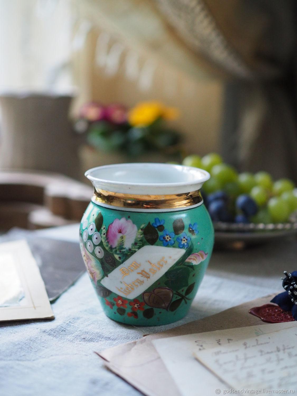 Dad's Cup. Porcelain, hand painted, Vintage mugs, St. Petersburg,  Фото №1