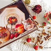 """Для дома и интерьера ручной работы. Ярмарка Мастеров - ручная работа Чайный короб """"Чай с клубникой"""". Handmade."""