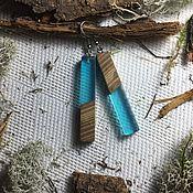 Earrings handmade. Livemaster - original item Earrings made of wood and resin. Handmade.