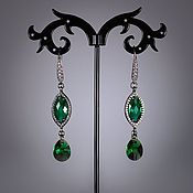 "Украшения handmade. Livemaster - original item Earrings ""Emerald"". Handmade."