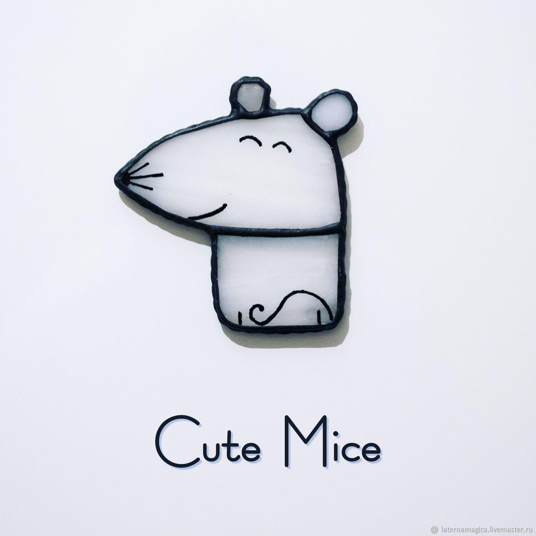 Магниты на холодильник из стекла Милые Мышата Cute Mice #001, Магниты, Новосибирск,  Фото №1