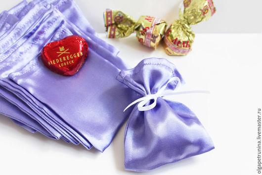 Упаковка ручной работы. Ярмарка Мастеров - ручная работа. Купить Подарочные мешочки. Handmade. Сиреневый, упаковка для подарка, мешочек для бижутерии