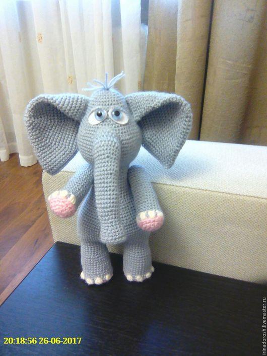 Игрушки животные, ручной работы. Ярмарка Мастеров - ручная работа. Купить Слон. Handmade. Серый, подарок на день рождения, холлофайбер