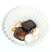 """Украшения ручной работы. Ярмарка Мастеров - ручная работа Серьги """"Сливки&Шоколад"""". Handmade."""