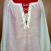 Одежда handmade. Livemaster - original item Copy of Copy of Copy of Women`s embroidered blouse ЖР4-084. Handmade.