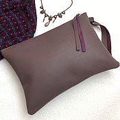 Сумки и аксессуары handmade. Livemaster - original item Clutch bag zipper, leather bag zipper. Handmade.