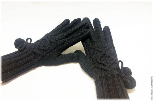 """Варежки, митенки, перчатки ручной работы. Ярмарка Мастеров - ручная работа. Купить Перчатки """"Geometry"""". Handmade. Черный, перчатки зимние"""