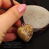 Украшения ручной работы. Ярмарка Мастеров - ручная работа Кулон - подвеска Сердце из натурального камня яшма песочная. Handmade.