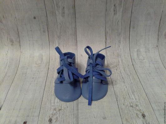 Одежда для кукол ручной работы. Ярмарка Мастеров - ручная работа. Купить Ботинки для кукол (91). Handmade. Синий, кукольная обувь