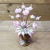 Цветы и флористика handmade. Livemaster - original item composition: Rose quartz flowers