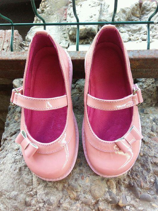 Детская обувь ручной работы. Ярмарка Мастеров - ручная работа. Купить туфли детские. Handmade. Однотонный, Обувь из кожи, девочка