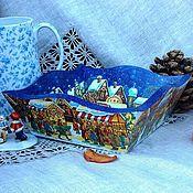 """Для дома и интерьера ручной работы. Ярмарка Мастеров - ручная работа Короб """"Рождественская ярмарка"""". Handmade."""