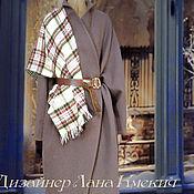 """Одежда ручной работы. Ярмарка Мастеров - ручная работа Пальто с поясом """"Английский стиль"""". Handmade."""