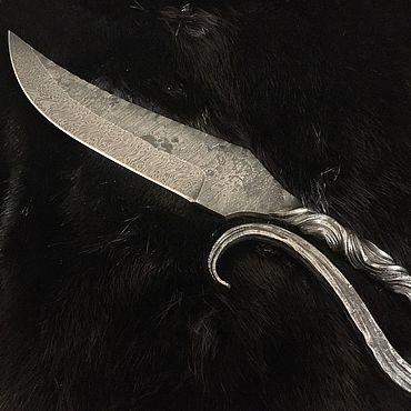 Сувениры и подарки ручной работы. Ярмарка Мастеров - ручная работа Нож из дамасской стали с рукоятью горячей ковки. Handmade.