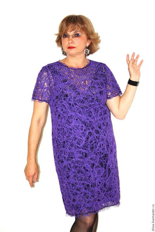 Платья ручной работы. Ярмарка Мастеров - ручная работа. Купить Платье Violett. Handmade. Фиолетовый, Платье нарядное, Платье на Новый год