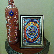Подарки к праздникам handmade. Livemaster - original item Picture table stained glass Symbol of the universe. Handmade.
