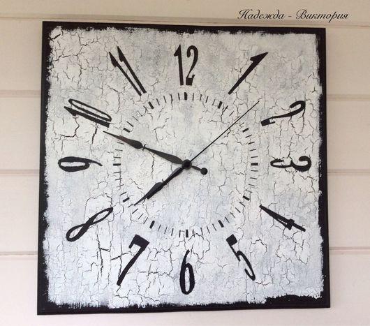 """Часы для дома ручной работы. Ярмарка Мастеров - ручная работа. Купить Часы настенные 40см """"Монохром-3"""". Handmade. Часы"""