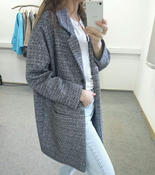 Верхняя одежда ручной работы. Ярмарка Мастеров - ручная работа. Купить Пальто с английским воротником серое. Handmade. Пальто