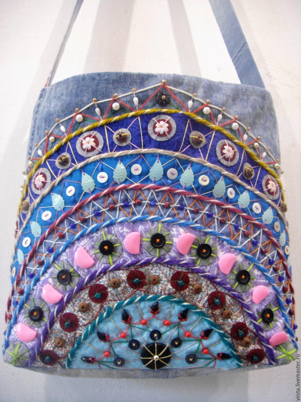 Denim bag 'My rainbow', Classic Bag, Orel,  Фото №1