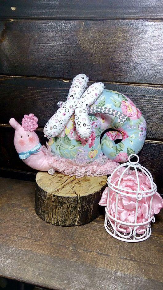 Куклы Тильды ручной работы. Ярмарка Мастеров - ручная работа. Купить Тильда улитка. Handmade. Розовый, стрекоза, улитка
