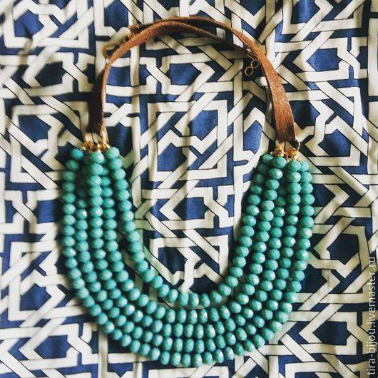 """Колье, бусы ручной работы. Ярмарка Мастеров - ручная работа. Купить Ожерелье """"Turquoise passion"""". Handmade. Бирюзовый, бусины"""