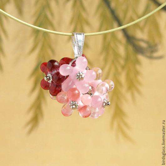 Кулоны, подвески ручной работы. Ярмарка Мастеров - ручная работа. Купить Кулон Весенние цветы. Handmade. Розовый, сакура, бутоны