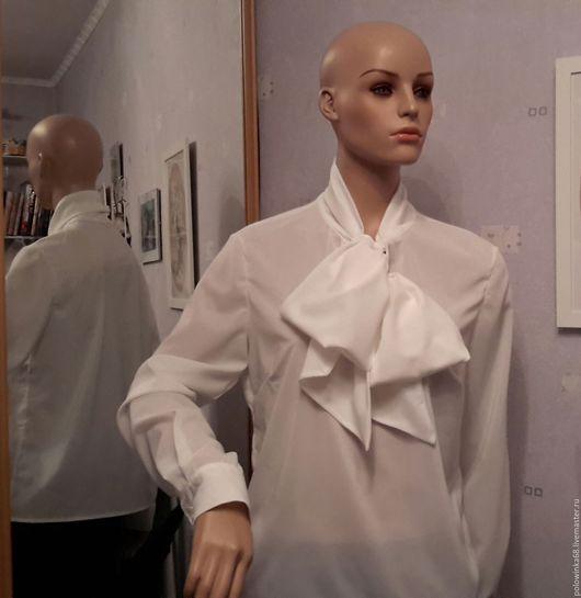 Блузки ручной работы. Ярмарка Мастеров - ручная работа. Купить блузка с большим бантом разные цвета. Handmade. Зеленый, розовый