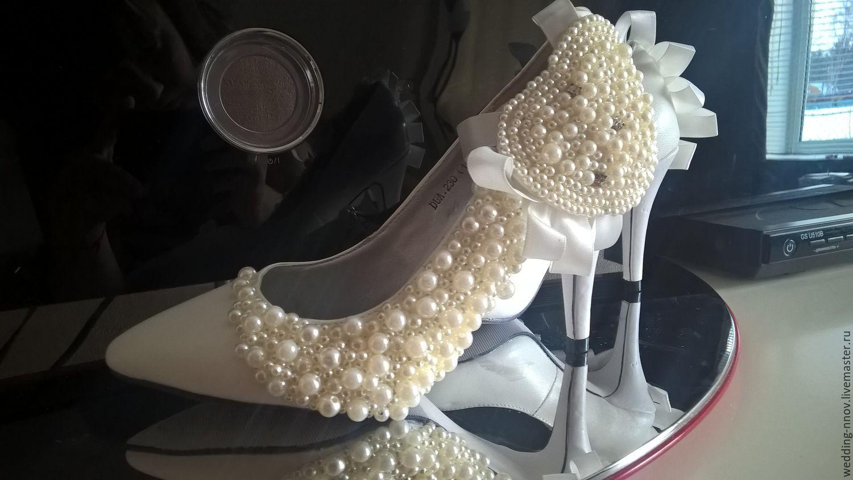 d893c16bc Свадебные туфли-лодочки – купить в интернет-магазине на Ярмарке ...