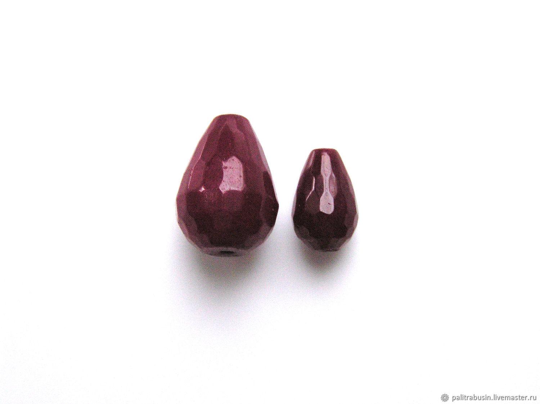 Агат тонированный ограненный бусины капли 2 размера, Бусины, Тюмень,  Фото №1