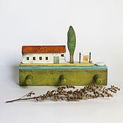 Для дома и интерьера handmade. Livemaster - original item Hanger, housekeeper, houses, panels. Handmade.