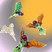 Для дома и интерьера ручной работы. Ярмарка Мастеров - ручная работа Интерьерное подвесное украшение из цветного стекла птица Сова. Handmade.