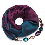 Аксессуары handmade. Livemaster - original item Cashmere scarf-necklace (deep turquoise). Handmade.